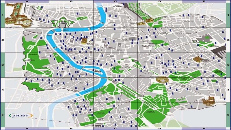 Roma Centro Storico Cartina.Le Mappe Dei Nasoni Di Roma Dimensione Suono Roma