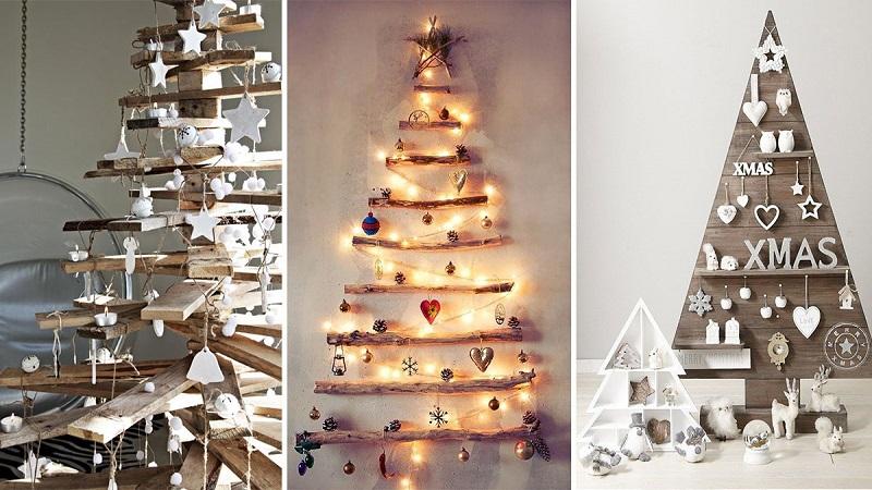 L 39 albero di natale col riciclo creativo dimensione - Grucce legno ikea ...