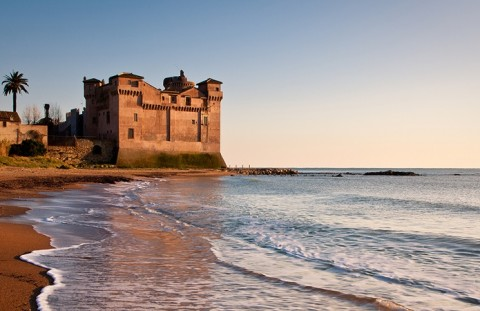 View of Castel of Pyrgi, Santa Severa - Italy