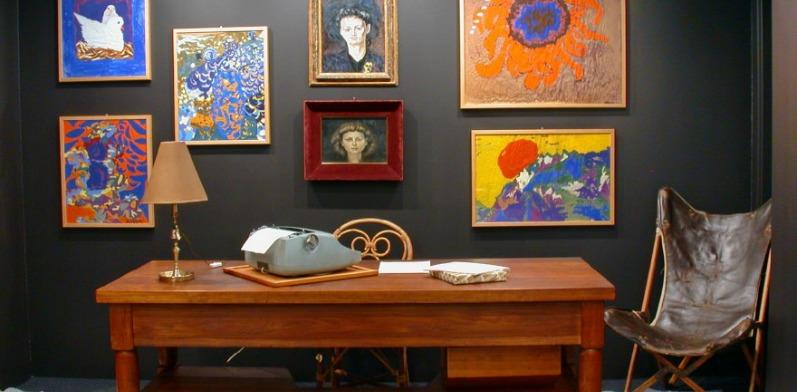Alla biblioteca nazionale di roma rivive la stanza di elsa for Stanza studio roma