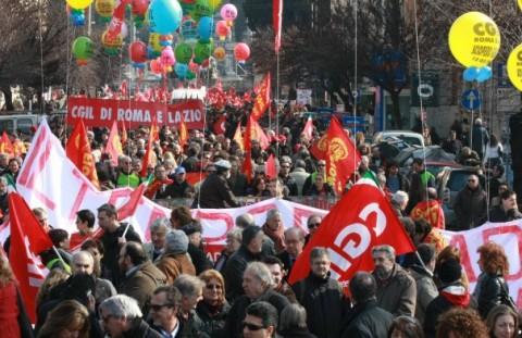 sindacati protesta roma