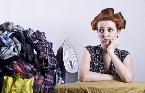 housewife who don't want to do ironing