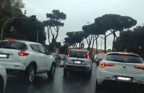 traffico-Roma-Maltempo